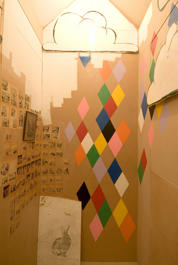 big state (interior view as house), 2008, mixed media, 300 x 400 x 400 cm