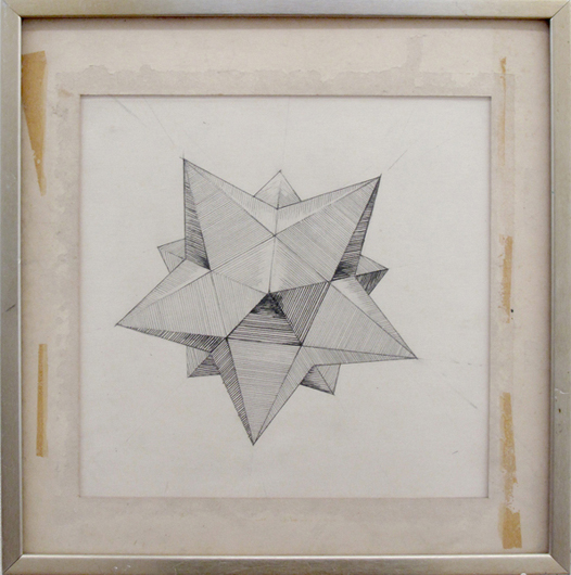 """ dodecahedron"", 2009, graphite on paper, (with frame) 36 x 34 cm"