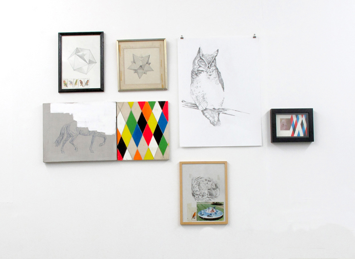 Installation view, small works