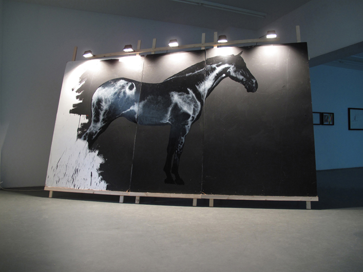 """Rocinante"", 2010, Acrylic paint and clear varnish on MDF,  245 x 392 x 90 cm"