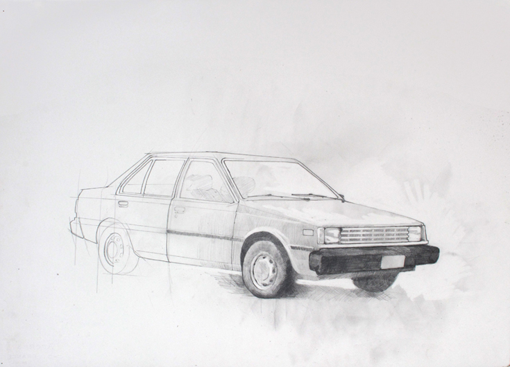 """Formerly"", 2011, graphite on paper, 56 x 76 cm"