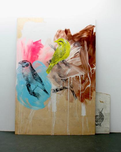"""manqué"", 2010, acrylic, graphite, laser transfer on multiplex panel, 150 x 220 cm"